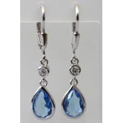 Ohrhänger 925/RH Zirkonia blau
